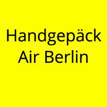 Handgepäck Air Berlin
