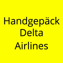 Handgepäck Delta Airlines