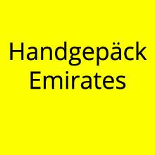 Handgepäck Emirates