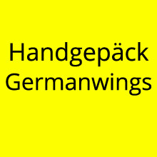 Handgepäck Germanwings