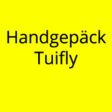 Handgepäck Tuifly