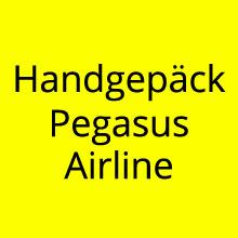 Handgepäck Bestimmungen Pegasus Airline