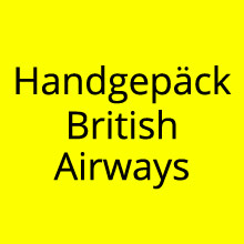 Handgepäck British Airways