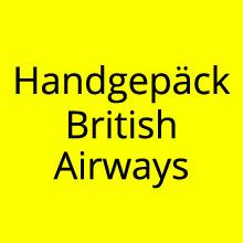 Handgepäck British Airways