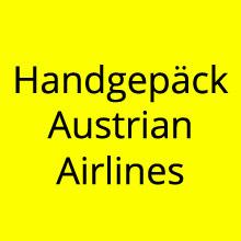Handgepäck Austrian Airlines