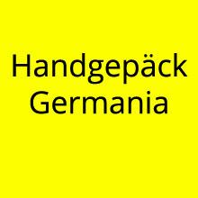 Handgepäck Größe und Gewicht bei Germania